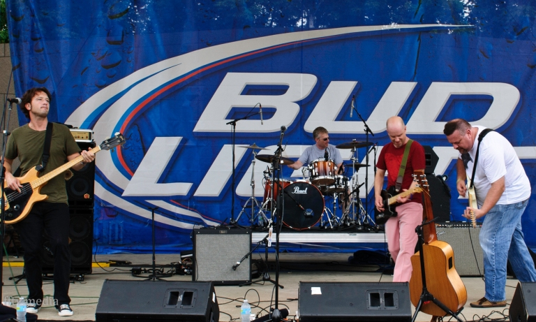 Messerly and Ewing Band, Bunbury 2012 with Midpoint found Sean Rhiney on basis and Midpoint and Bunbury founder Bill Donabedian on drums.